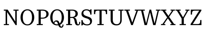 KazimirText Regular Font UPPERCASE