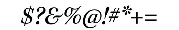 Kepler Std Condensed Italic Display Font OTHER CHARS