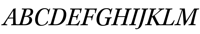 Kepler Std Condensed Italic Display Font UPPERCASE