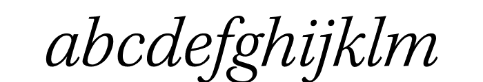 Kepler Std Light Condensed Italic Display Font LOWERCASE