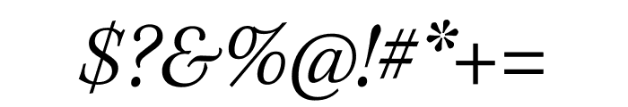 Kepler Std Light Semicondensed Italic Display Font OTHER CHARS