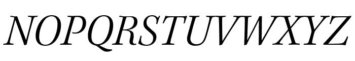 Kepler Std Light Semicondensed Italic Display Font UPPERCASE