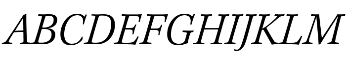 Kepler Std Light Semicondensed Italic Subhead Font UPPERCASE