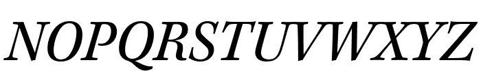 Kepler Std Semicondensed Italic Subhead Font UPPERCASE