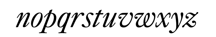 Kings Caslon Italic Font LOWERCASE