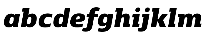 Kobenhavn C Black Italic Font LOWERCASE