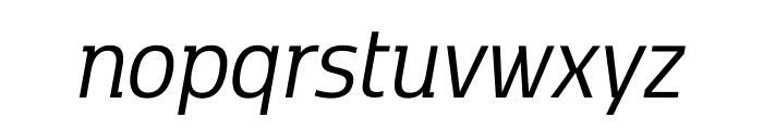 Kobenhavn C Book Italic Font LOWERCASE