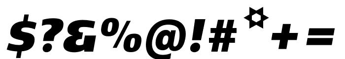 Kobenhavn C ExtraBlack Italic Font OTHER CHARS