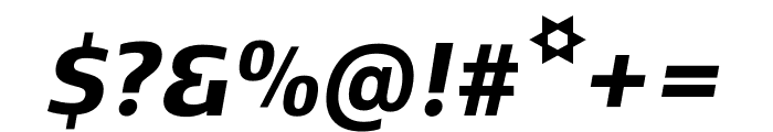 Kobenhavn C ExtraBold Italic Font OTHER CHARS