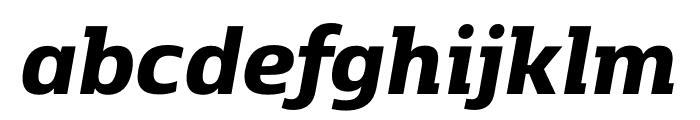 Kobenhavn C ExtraBold Italic Font LOWERCASE