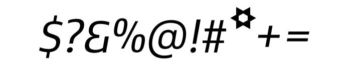 Kobenhavn C Regular Italic Font OTHER CHARS