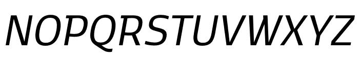 Kobenhavn C Regular Italic Font UPPERCASE