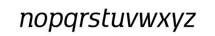 Kobenhavn C Regular Italic Font LOWERCASE