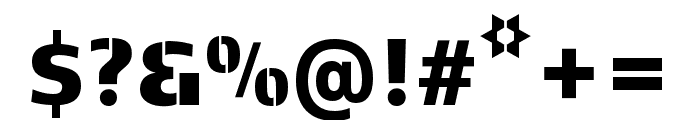Kobenhavn C Stencil Black Font OTHER CHARS