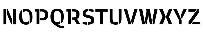 Kobenhavn C Stencil Bold Font UPPERCASE
