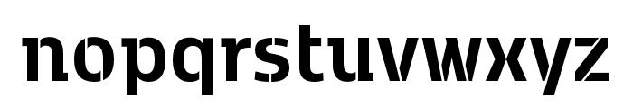 Kobenhavn C Stencil Bold Font LOWERCASE
