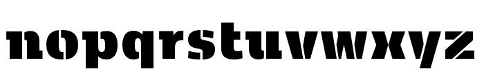 Kobenhavn C Stencil ExtraBlack Font LOWERCASE
