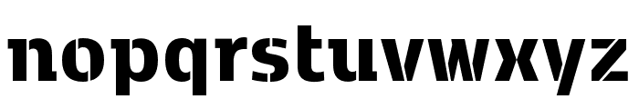 Kobenhavn C Stencil ExtraBold Font LOWERCASE