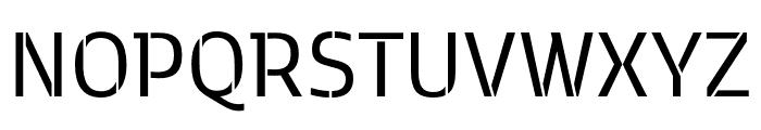 Kobenhavn C Stencil Regular Font UPPERCASE
