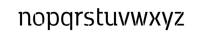 Kobenhavn C Stencil Regular Font LOWERCASE