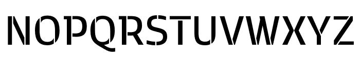 Kobenhavn C Stencil SemiBold Font UPPERCASE