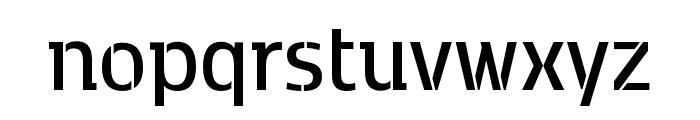 Kobenhavn C Stencil SemiBold Font LOWERCASE