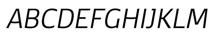 Kobenhavn CS Book Italic Font UPPERCASE