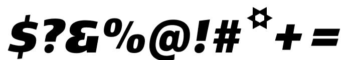 Kobenhavn CS ExtraBlack Italic Font OTHER CHARS