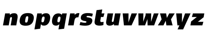 Kobenhavn CS ExtraBlack Italic Font LOWERCASE