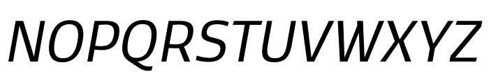 Kobenhavn CS Regular Italic Font UPPERCASE