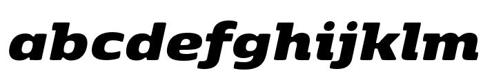 Kobenhavn ExtraBlack Italic Font LOWERCASE