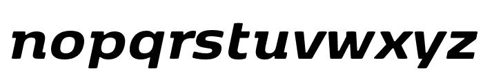 Kobenhavn ExtraBold Italic Font LOWERCASE