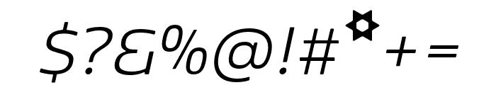 Kobenhavn Light Italic Font OTHER CHARS