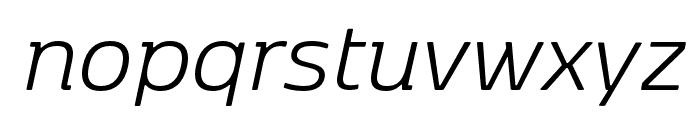 Kobenhavn Light Italic Font LOWERCASE