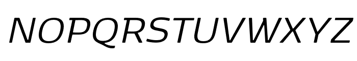 Kobenhavn Regular Italic Font UPPERCASE