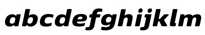 Kobenhavn Sans Black Italic Font LOWERCASE