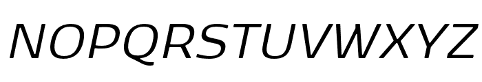 Kobenhavn Sans Regular Italic Font UPPERCASE