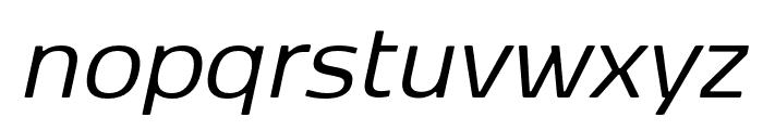 Kobenhavn Sans Regular Italic Font LOWERCASE