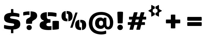 Kobenhavn Sans Stencil ExtraBlack Font OTHER CHARS