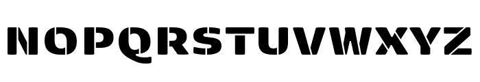 Kobenhavn Sans Stencil ExtraBlack Font UPPERCASE