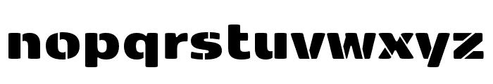 Kobenhavn Sans Stencil ExtraBlack Font LOWERCASE