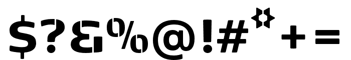 Kobenhavn Sans Stencil ExtraBold Font OTHER CHARS