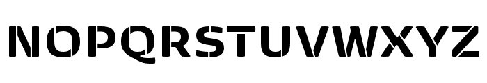 Kobenhavn Sans Stencil ExtraBold Font UPPERCASE