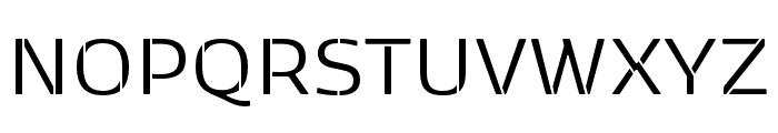 Kobenhavn Sans Stencil Regular Font UPPERCASE