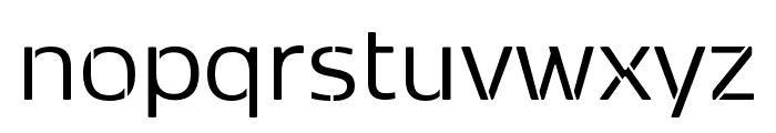 Kobenhavn Sans Stencil Regular Font LOWERCASE