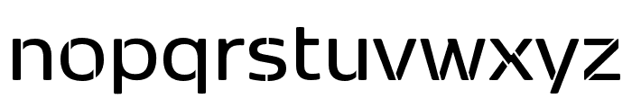 Kobenhavn Sans Stencil SemiBold Font LOWERCASE