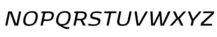 Kobenhavn SemiBold Italic Font UPPERCASE