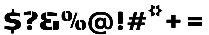 Kobenhavn Stencil Black Font OTHER CHARS