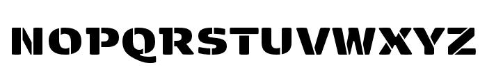 Kobenhavn Stencil ExtraBlack Font UPPERCASE