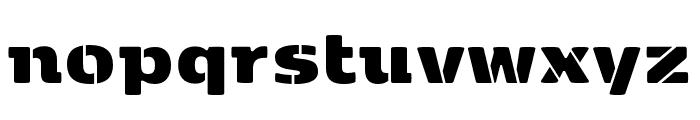 Kobenhavn Stencil ExtraBlack Font LOWERCASE